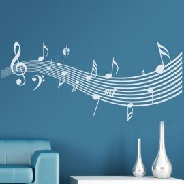 Vinilo Pentagrama musical