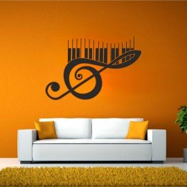 Vinilo Clave de sol piano