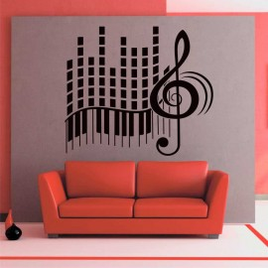 Vinilo Frecuencia de piano
