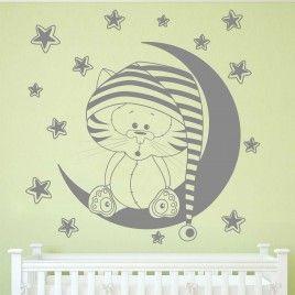 Vinilo Gatito en la luna