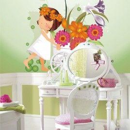 FotoMural Anita Carro con flores