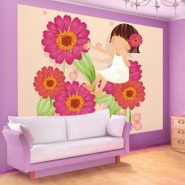 FotoMural Anita Entre Flores