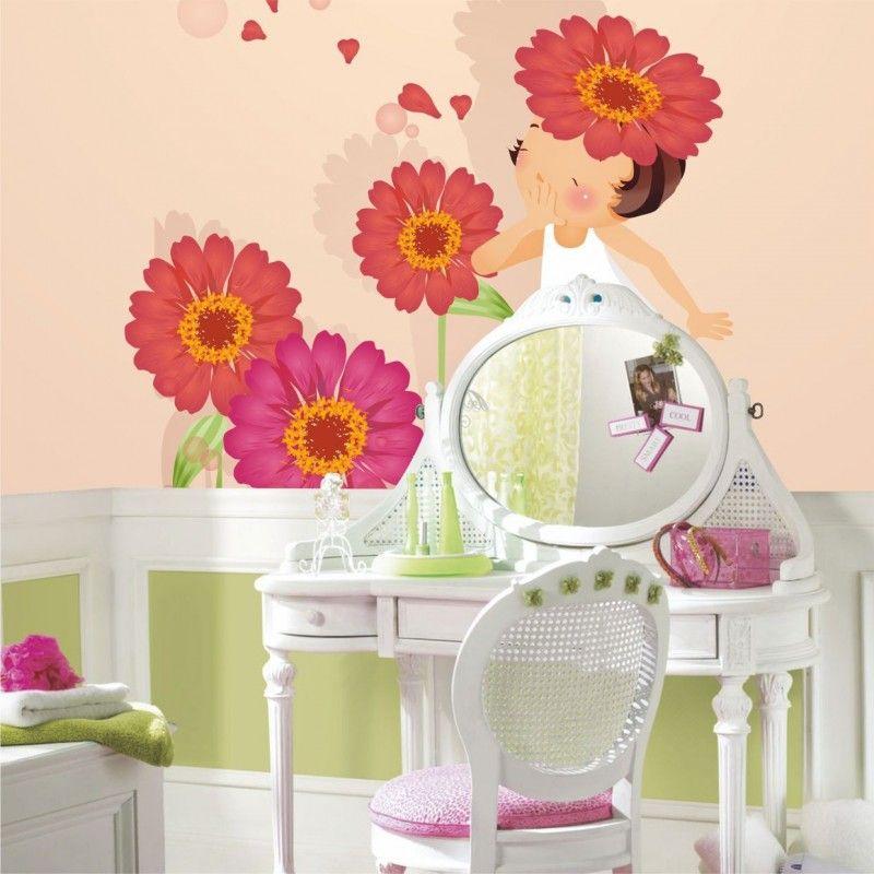 FotoMural Anita Entre Flores 2