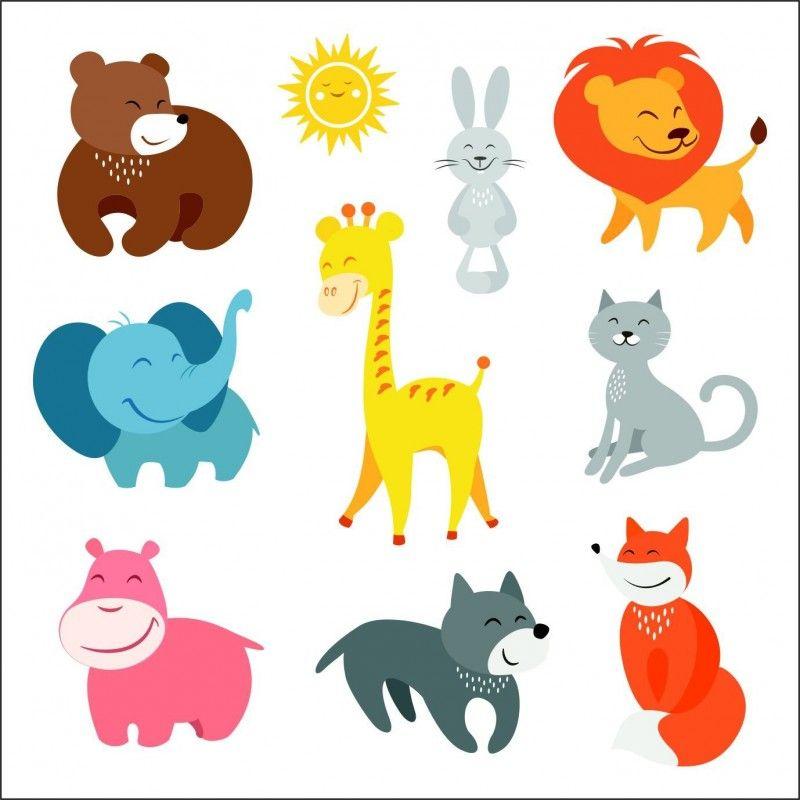 Vinilo infantil kit animalitos