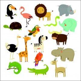 Vinilo infantil kit Zoo