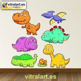 Vinilo infantil kit Dinosaurios