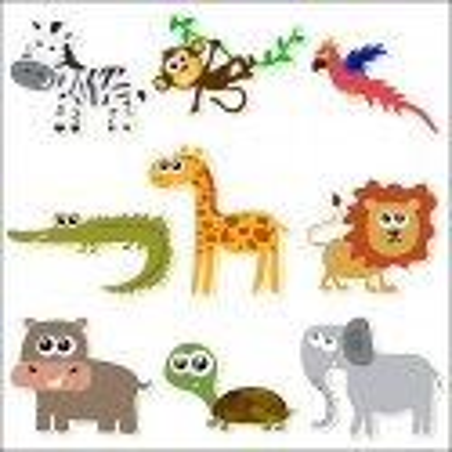 Vinilo infantil kit Safari