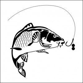 Pegatina Pesca Carpa