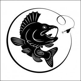 Pegatina Pesca black bass