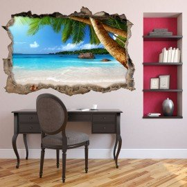Vinilo Roto 3D Playa