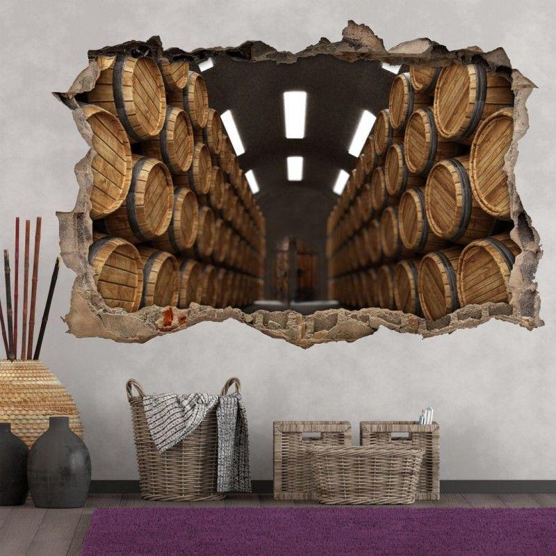 Vinilo Roto 3D Bodega