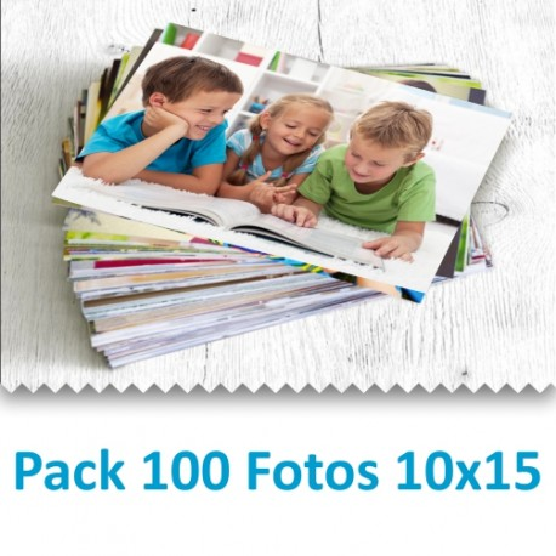 Pack 100 Fotografías 10x15 cm