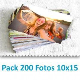 Pack 200 Fotografías 10x15cm