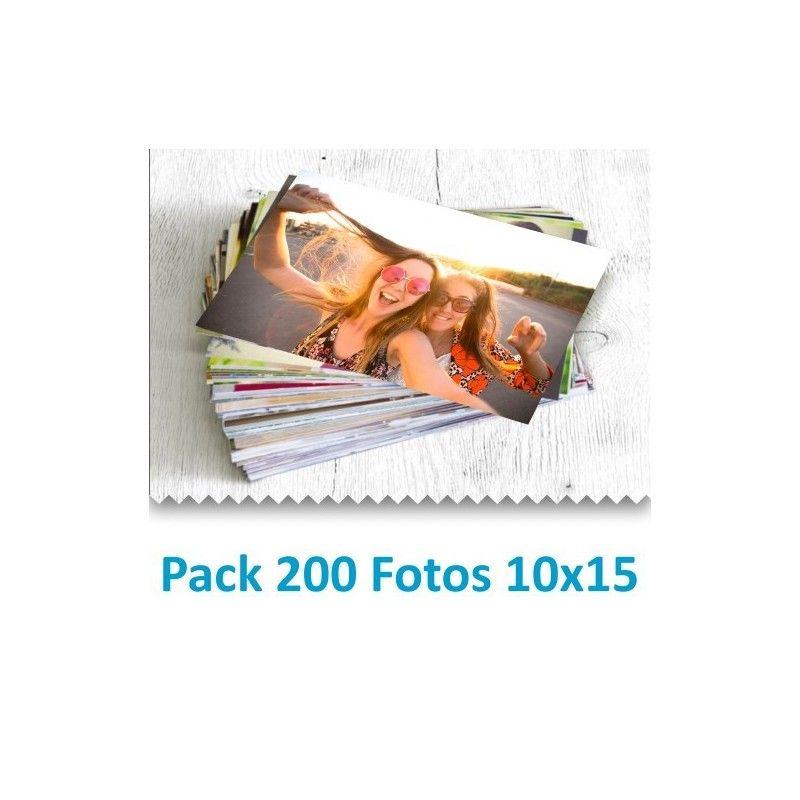 Pack 200 Fotografías 10x15 cm