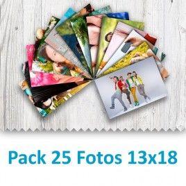 Pack 25 Fotografías 13x18cm