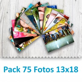 Pack 75 Fotografías 13x18cm