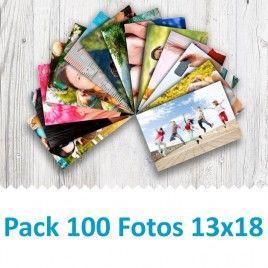 Pack 100 Fotografías 13x18cm