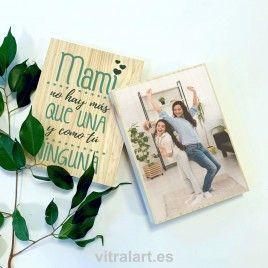 Foto Bloque Madera día de la madre