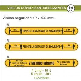 Vinilos de Prevención Antideslizante Covid-19