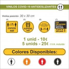 Vinilos de señalización Antideslizante Covid-19