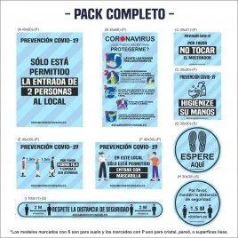 Pack Vinilos prevención Covid-19